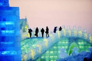 sculture ghiaccio cina
